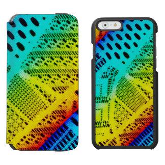 Funda Cartera Para iPhone 6 Watson Colorido brillante del cordón de neón del arco