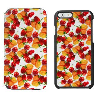 Funda Cartera Para iPhone 6 Watson Comida caliente anaranjada de las pimientas rojas