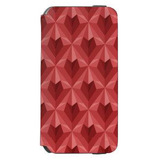 Funda Cartera Para iPhone 6 Watson Corazón del polígono