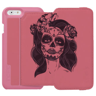 Funda Cartera Para iPhone 6 Watson Cráneo gótico