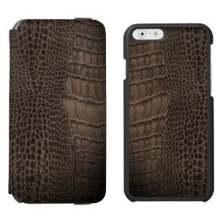 Funda Cartera Para iPhone 6 Watson Cuero clásico del reptil del cocodrilo (falso)