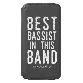 Funda Cartera Para iPhone 6 Watson El mejor bajista (probablemente) (blanco)