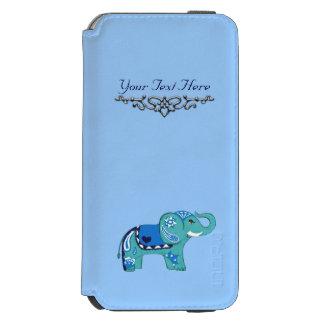 Funda Cartera Para iPhone 6 Watson Elefante de la alheña (azul/azul claro)