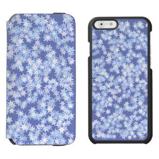 Funda Cartera Para iPhone 6 Watson Estrellas en colores pastel de Kawaii del azul y