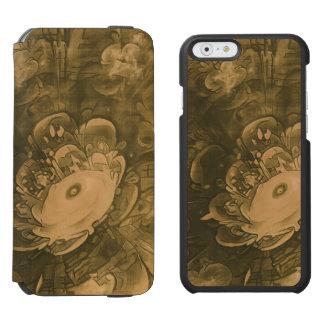 Funda Cartera Para iPhone 6 Watson Flor hermosa de la margarita del fractal en tonos