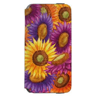 Funda Cartera Para iPhone 6 Watson Flores hermosas de Sun