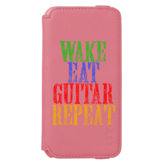 Funda Cartera Para iPhone 6 Watson La estela come la repetición de la GUITARRA