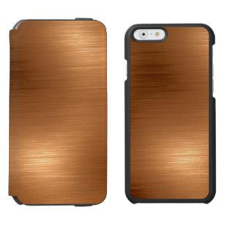 Funda Cartera Para iPhone 6 Watson Mirada de cobre cepillada