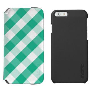 Funda Cartera Para iPhone 6 Watson Modelo blanco verde simple de la guinga de St