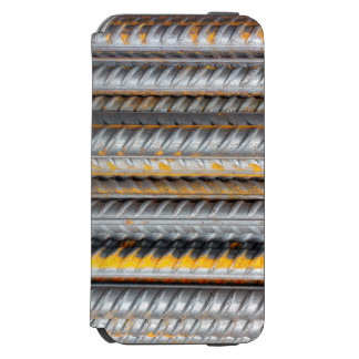 Funda Cartera Para iPhone 6 Watson Modelo de barras de acero oxidado