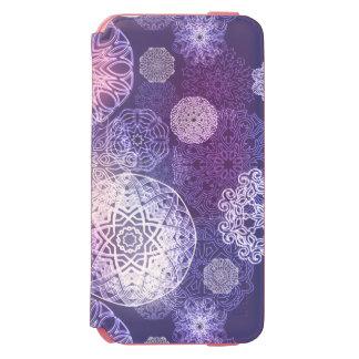 Funda Cartera Para iPhone 6 Watson Modelo de lujo floral de la mandala