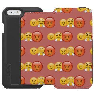 Funda Cartera Para iPhone 6 Watson Modelo enojado/enojado de Emoji