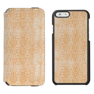 Funda Cartera Para iPhone 6 Watson Modelo envejecido damasco anaranjado pálido