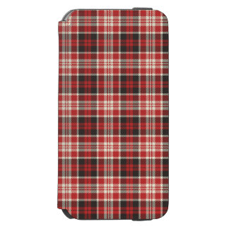 Funda Cartera Para iPhone 6 Watson Modelo rojo y negro de la tela escocesa