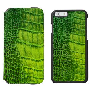 Funda Cartera Para iPhone 6 Watson Monstruo de mar en imitación de cuero verde clara