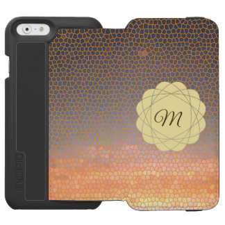Funda Cartera Para iPhone 6 Watson Mosaico anaranjado y amarillo de la puesta del sol