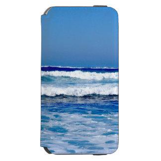 Funda Cartera Para iPhone 6 Watson Océano Atlántico azul profundo agita en la playa