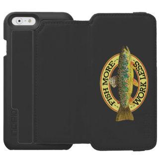 Funda Cartera Para iPhone 6 Watson Palabras divertidas de la pesca para un pescador