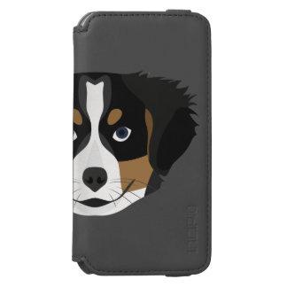Funda Cartera Para iPhone 6 Watson Perro de montaña de Bernese del ilustracion