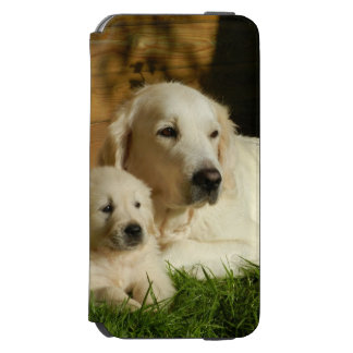 Funda Cartera Para iPhone 6 Watson Perros poner crema del golden retriever