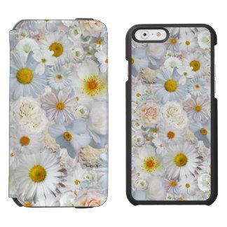 Funda Cartera Para iPhone 6 Watson Primavera nupcial del boda floral del ramo de las