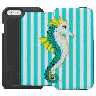 Funda Cartera Para iPhone 6 Watson rayas del trullo del seahorse