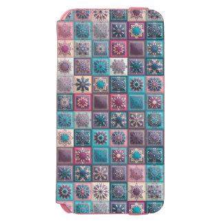 Funda Cartera Para iPhone 6 Watson Remiendo del vintage con los elementos florales de