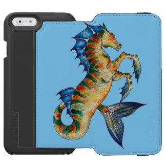 Funda Cartera Para iPhone 6 Watson Seahorse en azul