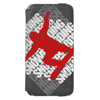 Funda Cartera Para iPhone 6 Watson Snowboard #1 (blanca)