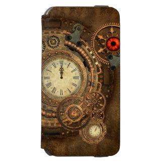 Funda Cartera Para iPhone 6 Watson Steampunk, mecanismo maravilloso