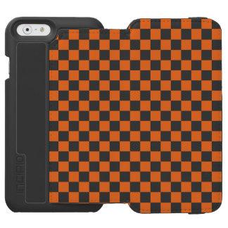 Funda Cartera Para iPhone 6 Watson Tablero de damas anaranjado