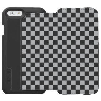 Funda Cartera Para iPhone 6 Watson Tablero de damas gris claro