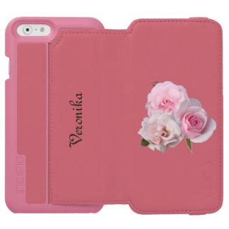 Funda Cartera Para iPhone 6 Watson Tres rosas rosadas