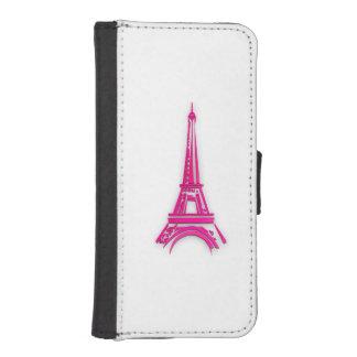 Funda Cartera Para iPhone SE/5/5s 3d torre Eiffel, clipart de Francia