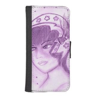 Funda Cartera Para iPhone SE/5/5s Aleta estrellada - púrpura