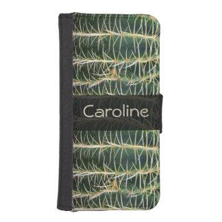 Funda Cartera Para iPhone SE/5/5s Cactus verde botánico de la esfera cualquier