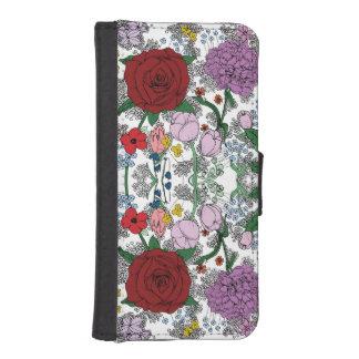 Funda Cartera Para iPhone SE/5/5s Cartera/caso florales del iPhone 5/5s