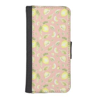 Funda Cartera Para iPhone SE/5/5s Caso meridional del modelo del limón del encanto