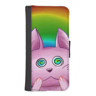 Funda Cartera Para iPhone SE/5/5s Estuche Gato rosado