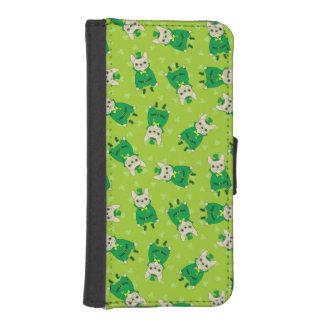 Funda Cartera Para iPhone SE/5/5s Frenchie lindo afortunado el el día de St Patrick