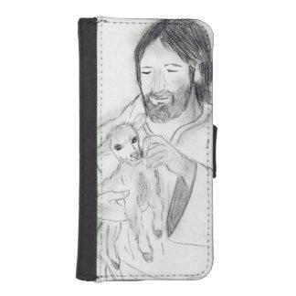 Funda Cartera Para iPhone SE/5/5s Jesús con el cordero