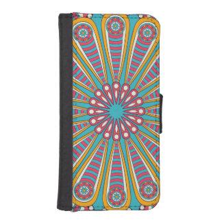 Funda Cartera Para iPhone SE/5/5s Mandala colorida fresca de Boho
