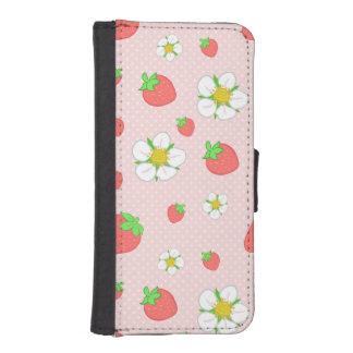 Funda Cartera Para iPhone SE/5/5s Mismo fresas de la baya en rosa