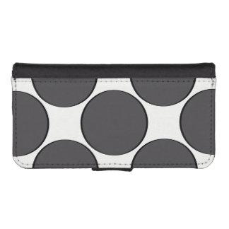 Funda Cartera Para iPhone SE/5/5s Punto gris oscuro