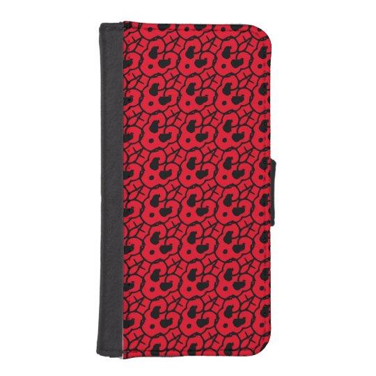 Funda Cartera Para iPhone SE/5/5s Rojo