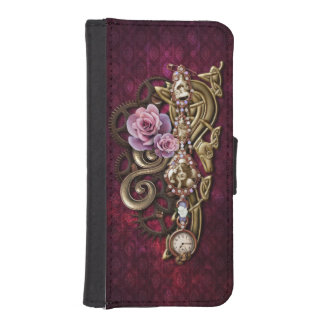 Funda Cartera Para iPhone SE/5/5s Steampunk femenino