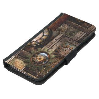 Funda Cartera Para Samsung Galaxy S5 Diseño maravilloso del steampunk