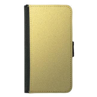Funda Cartera Para Samsung Galaxy S5 Efecto metálico del efecto metalizado del oro