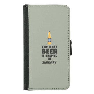 Funda Cartera Para Samsung Galaxy S5 La mejor cerveza es en mayo Z96o7 elaborado
