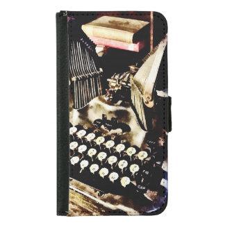 Funda Cartera Para Samsung Galaxy S5 Máquina de escribir antigua Oliverio #9
